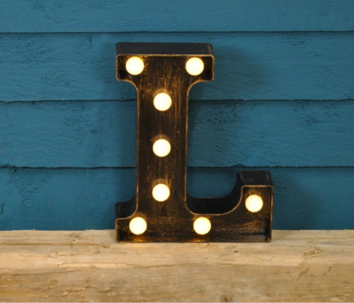 Letter L- Battery Operated Lumiere